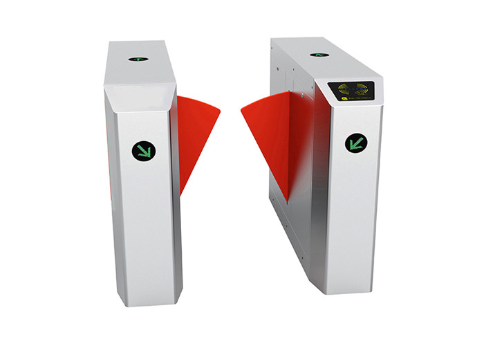 304 Stainless Steel Automatic Systems Turnstiles , Pedestrian Automatic Flap Barrier
